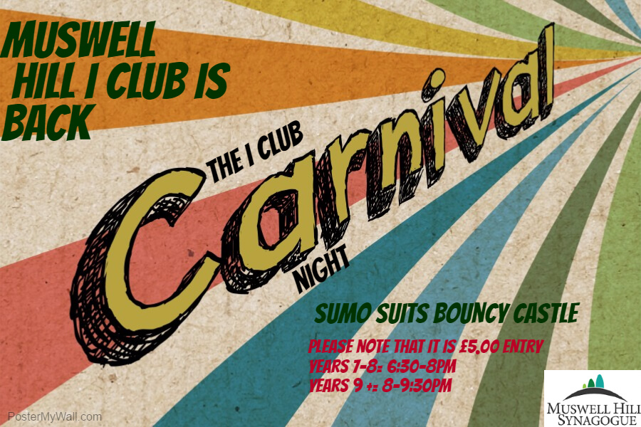 copy of carnival poster template muswell hill synagogue