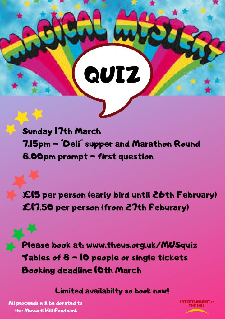 MHS Magical Mystery Quiz - Muswell Hill Synagogue